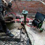 Работы по подъему застрявшего насоса из артезианской скважины